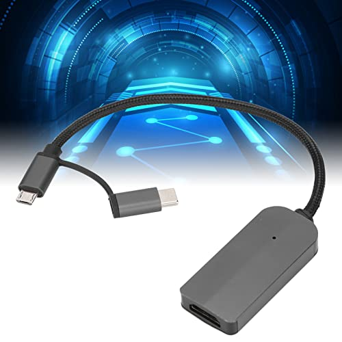 Adaptador De Cable De Teléfono 2 En 1, Estación De Acoplamiento USB Full HD 1080P Compatible Con Salida De Imagen, Audio Y Video De 1920 X 1080P, Convertidor De Teléfono Duradero Para Entretenimiento
