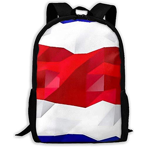 Mochila Bandera De Costa Rica Niñas Mochila para Adolescentes Escolares Mochila Informal Bolsa De Viaje