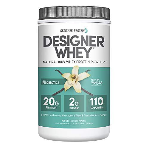 Designer Protein Whey Protein Powder, Non GMO, Made in USA French Vanilla French Vanilla 2 Pound 32 Ounce