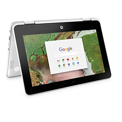 HP X360 Chromebook 11.6 inch Touchscreen 2-in-1 , Intel Celeron N3350, 4GB, 32GB, WiFi, Webcam, Stereo Speakers, Bluetooth, USB 3.1, Chrome OS (Renewed)
