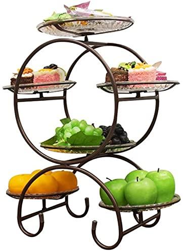 GDFEH Galletas de Postre de múltiples Capas de Frutas, Bandeja de Soporte del tazón de la Cesta de la exhibición para la Cocina, organización de baños (Color : D, Size : 30 * 52cm)
