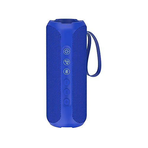Wharfedale Bluetooth Speaker 20W Wireless Portable Speaker, IPX7 Waterproof, Rich Bass, Loud Sound, Power Bank, 8H Playtime, Bulit-in Mic, for Camping, Outdoors, Garden, Shower … (Blue)