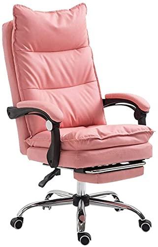 N&O Renovation House Komfortabler Boss Chair Drehstuhl mit hoher Rückenlehne Schreibtisch Computerstuhl mit Fußstütze Ergonomischer Pu-Leder Executive Bürostuhl Schwarz Executive