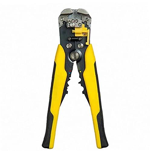 Autoajustable pelacables - agarre cómodo y mango ergonómico - Potentes herramientas de desmontaje, Cutter, Crimper y alicates de la mano con herramienta de mano operada