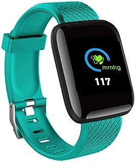 Wiouy Reloj Inteligente con Bluetooth y frecuencia cardíaca, con Monitor de Actividad física