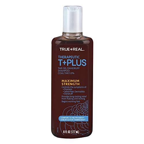 True+Real Therapeutic Tar Gel Dandruff Shampoo Coal Tar, 6...