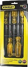 Stanley 69-452J, Jogo Chave Fenda Reta e Chave Fenda Cruzada 3, Amarelo/Preto