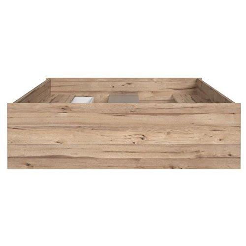 FINLANDEK - Cama para adulto VANKKA de estilo escandinavo, en madera de roble de color blanco mate. 140 x 190 cm