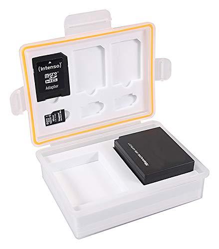 PATONA Aufbewahrungsbox Schutzbox Akkubox für Akkus & Speicherkarten NB-2L NB-10L LP-E10 LP-E12 LP-E17 NP-W126 CR-V3 Klic-8000 EN-EL23 BLN-1 CGA-S006 DMW-BLE9 BMB9 BLG10 NP-FV50 FP50 NP-FW50
