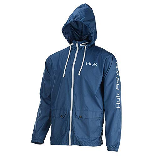 Huk Breaker Jacket, Color, Size, Dark Blue/White, Large