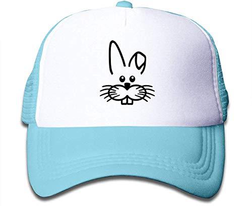 kaifaquqiaoqibaihuodian Black Easter Bunny Face Sun Mesh Back Cap Trucker Baseball Hat for Girls' Fashion9553