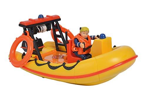 Simba – Feuerwehrmann Sam – Ozean Boot Neptune schwimmend – 2 Zubehörteile + 1 Figur inklusive – 109251047002N