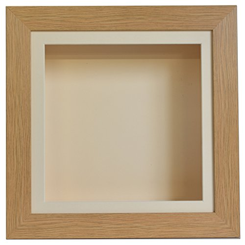 Boldon Framing 3.75 Inch Deep 3D Shadow Box Frame Medals Casts Memorabilia-16x12-Light Oak