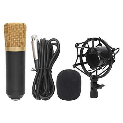 Pwshymi Micrófono de transmisión de Instrumento Musical Estable y Duradero para Cantantes para transmisión de Radio para Karaoke por Internet