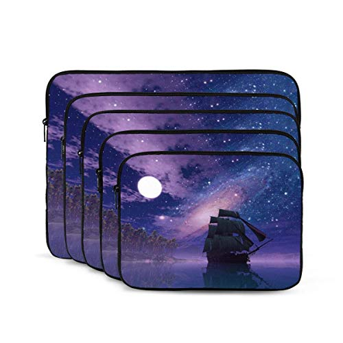 QUEMIN Fantasy Night Galaxy Ship Funda para portátil, maletín Resistente a los Golpes, Estuche para Tableta para MacBook Pro/MacBook Air/ASUS/DELL/Lenovo/HP/Samsung de 17 Pulgadas