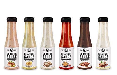 Got7 Classic Sauce - Karlorienfreie Salat, Grill und Würzsauce - Perfekt zum Abnehmen (2. Mix Box, 6x 350ml)