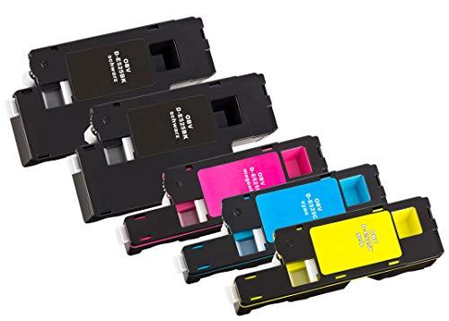 OBV 5X kompatibler Toner als Ersatz für Dell 593-BBLN 593-BBLL 593-BBLZ 593-BBLV für Dell E525 E525W