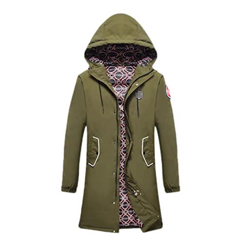 Męskie ciężkie ciężar długa kurtka parka kapiszon wyściełany puffer ciepły płaszcz zimowy, męska kurtka zimowa ciepła kurtka z kapturem Casual pikowana w dół żakiet wiatroszczelna