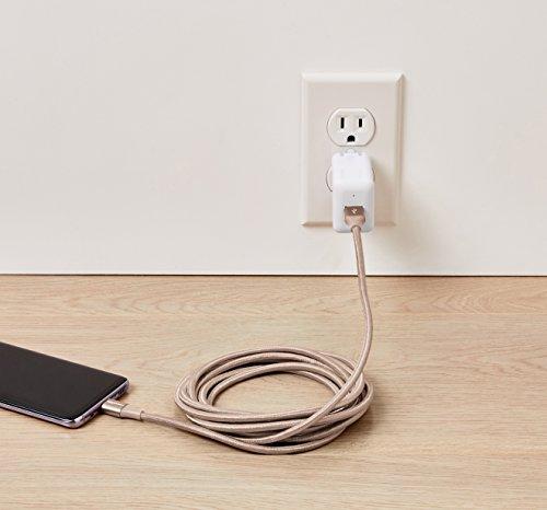 Amazon Basics - Verbindungskabel, USB Typ C auf USB Typ A, USB-3.1-Standard der 1. Generation, doppelt geflochtenes Nylon, 3 m, Gold