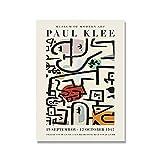 Póster de exposición de Paul Klee, patrón geométrico abstracto, cuadro de arte de pared minimalista moderno, pintura de lienzo sin marco A2 40x60cm