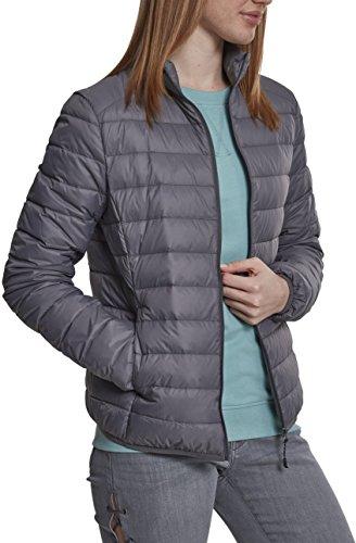 Urban Classics Damen Ladies Basic Jacket Jacke, Grau (Darkgrey 00094), Medium (Herstellergröße: M)