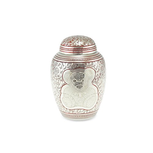 Cherished Urns Porth Teddy Bär Messing Kind Urne in pink