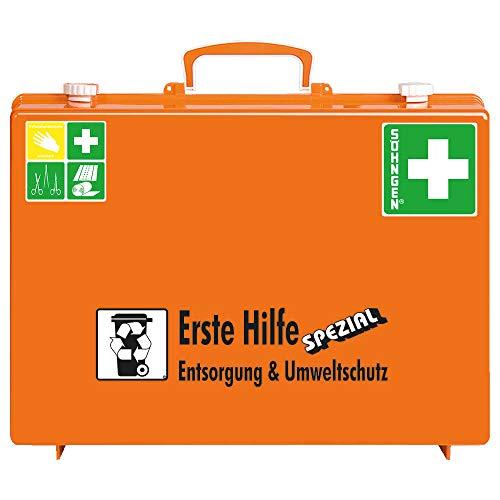SÖHNGEN 0360117 Erste-Hilfe-Koffer Spezial Entsorgung und Umweltschutz, DIN 13157 aus Kunststoff, mit PRÜFPLAKETTE