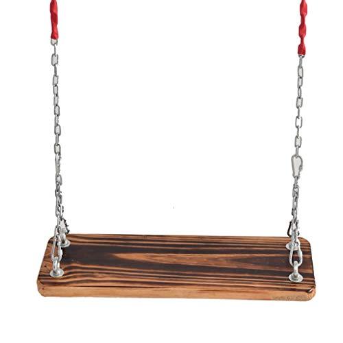 Balançoires Nostalgique Arbre Siège de balançoire traditionnelle en bois de pin Balancelle Hanging avec 2M chaîne Fer réglable extérieur Jardin Balancez Conseil for les enfants adultes enfants Balanço