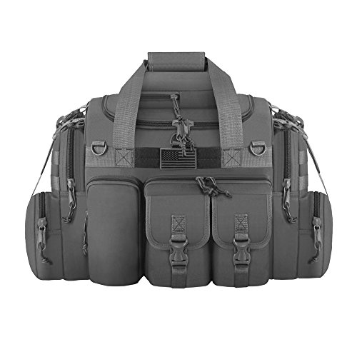 "East West U.S.A Tactical Outdoor Multi Pockets Heavy Duty 22"" Duffel Bag, Outdoor Sports Bag Dark Gray Color"
