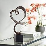 Universal Lighting and Decor Swirling Heart 17 1/4' High Brushed Nickel Modern Sculpture - Studio 55D