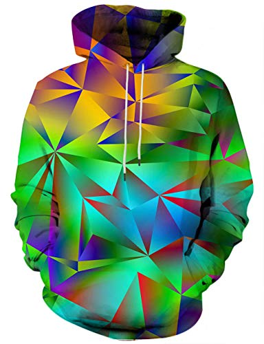 Unisex 3D Novelty Hoodies for Men Women Cool Graphic Pullover Sweatshirts with Pockets-Cg-mul43-Large
