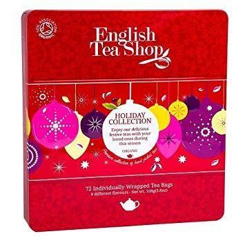 English Tea Shop Colección roja de té orgánico y tés de hierbas con sabores navideños - 1 x 72 bolsitas de té (108 gramos)