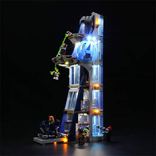 LIGHTAILING Conjunto de Luces (Marvel Batalla en la Torre de los Vengadores) Modelo de Construcción de Bloques - Kit de luz LED Compatible con Lego 76166 (NO Incluido en el Modelo)