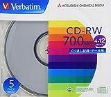 Verbatim バーベイタム くり返し記録用 CD-RW 700MB 5枚 シルバーディスク 4-12倍速 SW80EU5V1