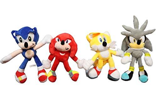 Peluche Sonic juguete 4 unids/lote 28 CM Sonic Boom felpa de...