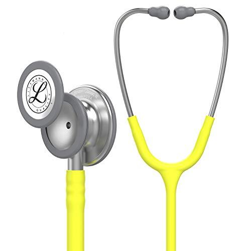 3M Littmann Classic III Monitoring-Stethoskop, Zitronengelime-Röhre, 27 Zoll, 5839