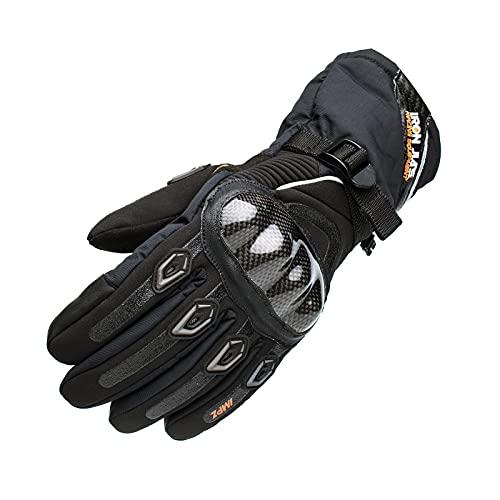 Motorradhandschuhe Wasserdicht Winter Warm Motorrad Handschuhe Motorradhandschuhe Knuckle mit Touchscreen Funktion für Herren Damen