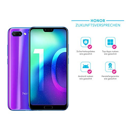 Honor 10 Smartphone (14,83 cm (5,84 Zoll), Full HD+ Touch-Display, 64GB interner Speicher, 4GB RAM, Phantom Blau - Deutsche Version