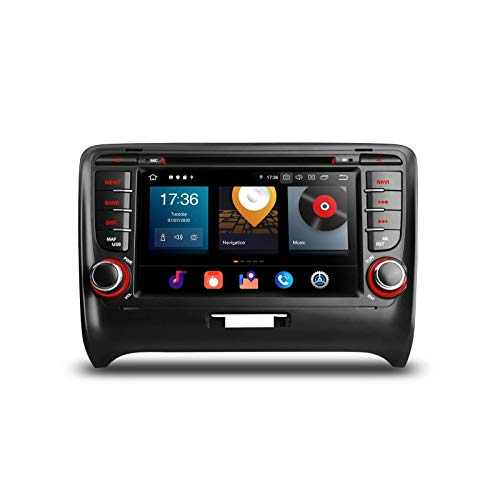 7 'Android 10 Navegación GPS estéreo para automóvil Octa Core 4G + 64G Reproductor de DVD estéreo para automóvil con doble DIN Soporte CarAutoPlay Bluetooth 5.0 WIFI MirrorLink DAB + para Audi TT MK2