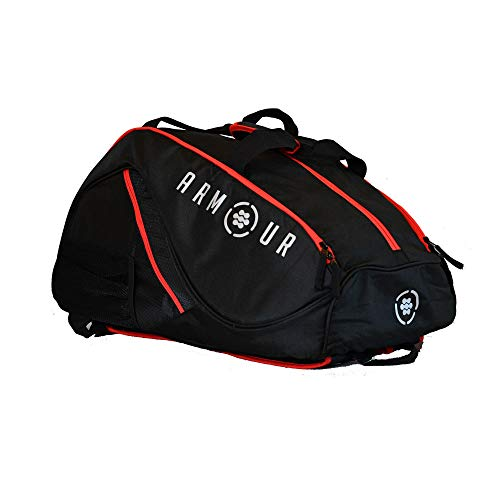 ARMOUR Pickleball ProBag (Black with Red Trim)