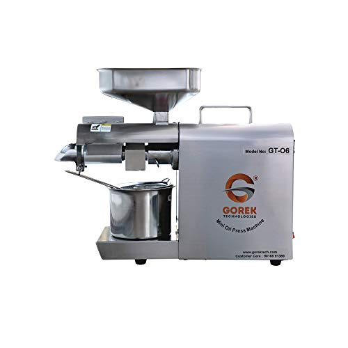 Gorek Technologies GT-O6 600Watt Fully Automatic Oil Extractor/Maker Machine with...