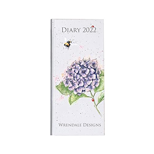 Wrendale Designs Slim Diary 2022 - Bumblebee & Lilac Hydrang
