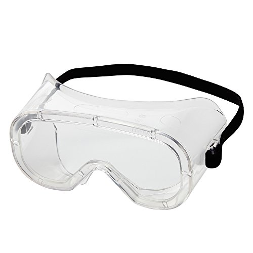 Sellstrom Flexible, Soft, Non-Vented, Protective Safety Goggle, Clear Body, Anti-Fog Coating, Clear Lens, Black Adjustable Strap, S81220