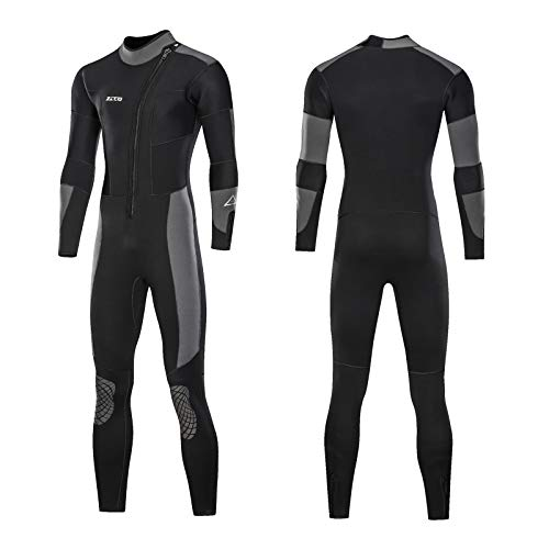 Men and Women Wetsuit 3mm Neoprene Diving Wet Suit with Front Zipper for Scuba, Surfing, Cold Water
