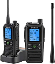 SANZUCO 5 Watt walkie Talkie for Adults,Two Way Radios Rechargeable with 2000mAh, Long Range Hand-held UHF Business Radio for Adults, 2 Way Radio with User Name Editing (2 Pack)