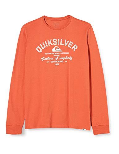 Quiksilver Creators of Simplicity - Camiseta De Manga Larga para Niños 8-16 Camiseta De Manga Larga, Niños, Chili, XS/8