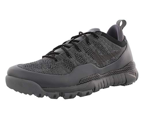 Nike Mens Lupinek Flyknit Low Breathable Fashion Sneakers Gray 9 Medium (D)