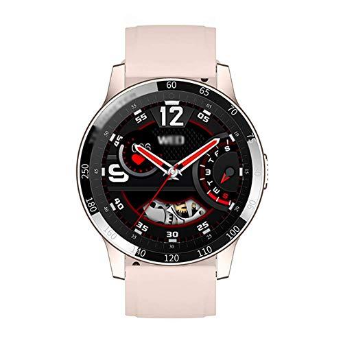 ZHICHUAN Reloj Inteligente de la Moda, 1,28' Pantalla Táctil Completa Presión Rastreador de Ejercicios de Ritmo Cardíaco Blood Sport Smartwatch, Compatible con Android 4.4 Y Superio
