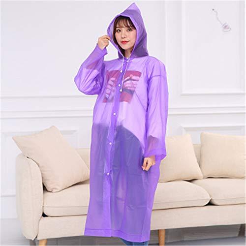LIZHOUMIL Rian Cover Eva tragbarer, mattierter Regenmantel, nicht Einweg-Regenmantel, für Reiten, Outdoor, Wandern, Lila, Einheitsgröße