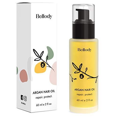 Bellody® Original Haaröl - Kaltgepresstes Arganöl, mild verwöhnender Duft, frei von Parabenen, Silikonen & Mikroplastik - 60ml